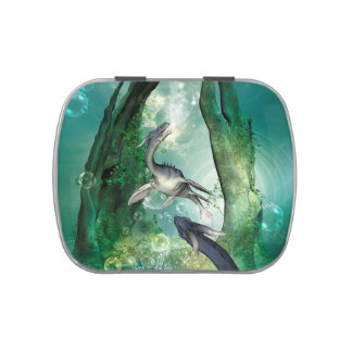 Awesome seadragon in a fantasy underwater world jelly belly tins