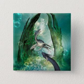 Awesome seadragon pinback button