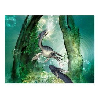 Awesome seadragon postcard