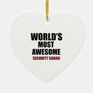 Awesome SECURITY-GUARD designs Ceramic Ornament