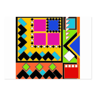 Awesome shapes and color collage business card