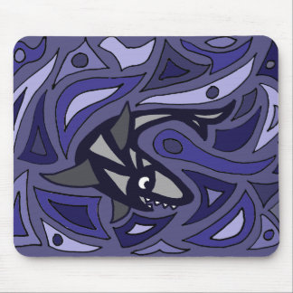 Awesome Shark Abstract Art Design Mousepads