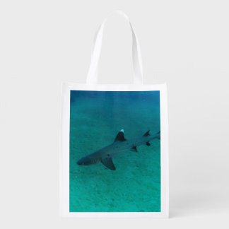 Awesome Shark in the Deep Grocery Bag