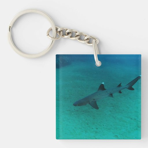 Awesome Shark in the Deep Acrylic Keychain
