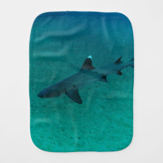 Awesome Shark in the Deep Baby Burp Cloths