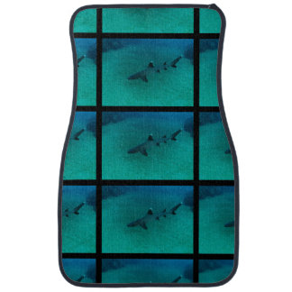 Awesome Shark in the Deep Car Mat