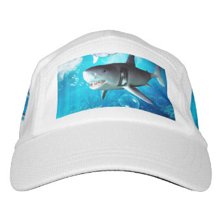Awesome shark with bubbles headsweats hat