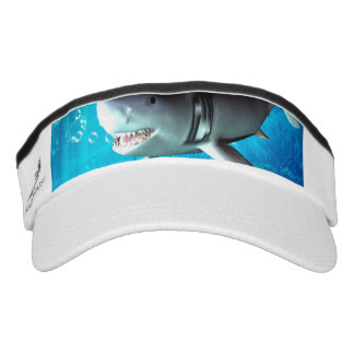 Awesome shark with bubbles headsweats visor