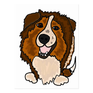 Awesome Shetland Sheepdog Art Postcard