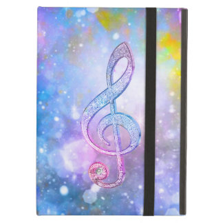 Awesome shining effects treble clef soft colours cover for iPad air