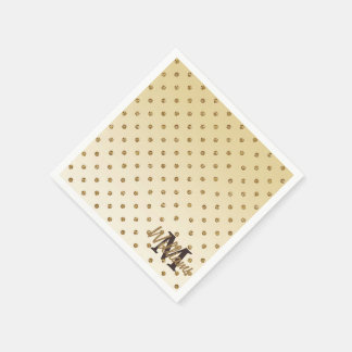 Awesome shining faux glitter gold polka dots paper napkin