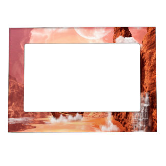 Awesome ship in a fantasy world magnetic picture frame