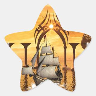 Awesome ship star sticker