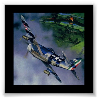 Awesome Shot of a W.A.R. P-47 Poster