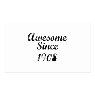 Awesome Since 1908 Double-Sided Standard Business Cards (Pack Of 100)