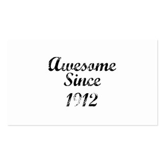 Awesome Since 1912 Double-Sided Standard Business Cards (Pack Of 100)