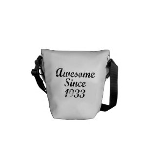 Awesome Since 1933 Messenger Bags