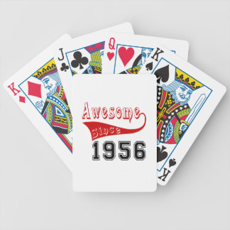 Awesome Since 1956 Bicycle Playing Cards