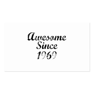 Awesome Since 1969 Business Card Template