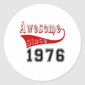 Awesome Since 1976 Classic Round Sticker
