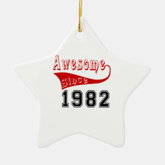 Awesome Since 1982 Ceramic Ornament