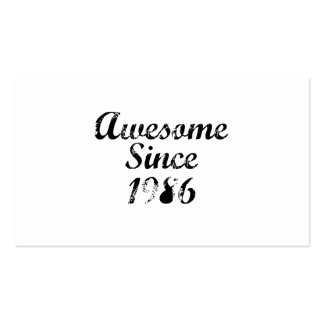 Awesome Since 1986 Double-Sided Standard Business Cards (Pack Of 100)
