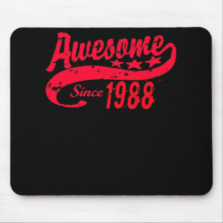 Awesome Since 1988 30 Years Old Birthday Mouse Pad