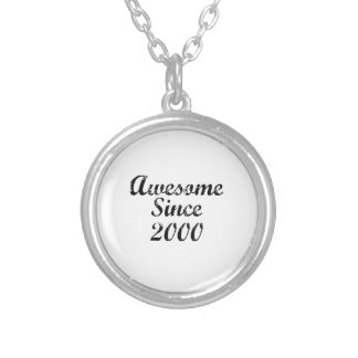 Awesome Since 2000 Silver Plated Necklace