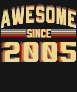 Awesome Since 2005 Vintage 14 Years Old Birthday T Shirt