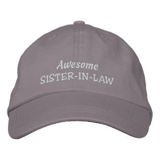 Awesome SISTER-IN-LAW-All Occasions Embroidered Baseball Hat