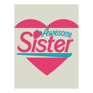 Awesome Sister Postcard