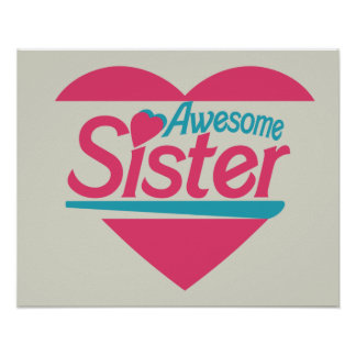 Awesome Sister Poster