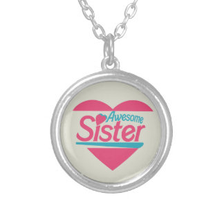 Awesome Sister Round Pendant Necklace