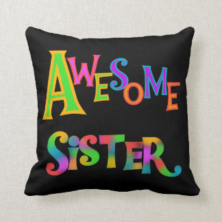 Awesome Sister T-shirts and Gifts Throw Pillow