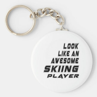 Awesome Skiing Player Basic Round Button Keychain
