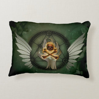 Awesome skull accent pillow