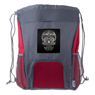 awesome skull drawstring backpack