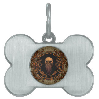 Awesome skull on a frame pet ID tag