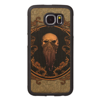 Awesome skull on a frame wood phone case
