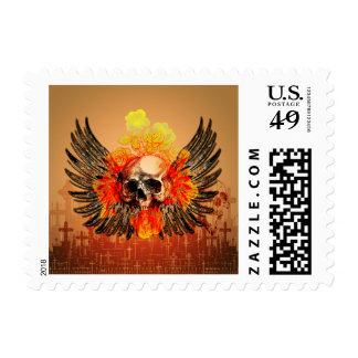 Awesome skull postage