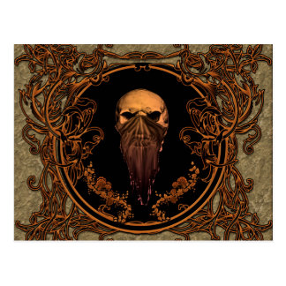 Awesome skull postcard