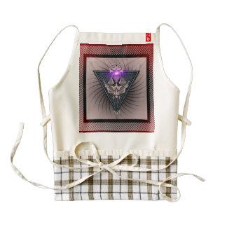 Awesome skull zazzle HEART apron