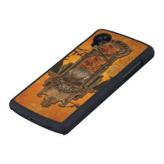 Awesome skulls and crow carved® maple nexus 5 case