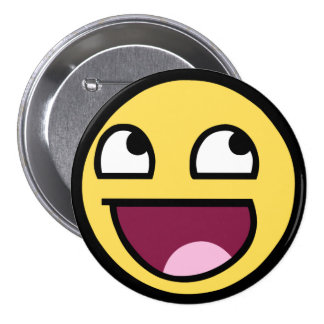Awesome Smiley Pinback Buttons