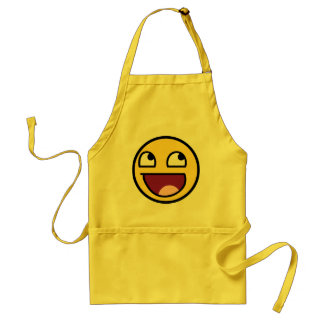 awesome smiley face awesome face aprons