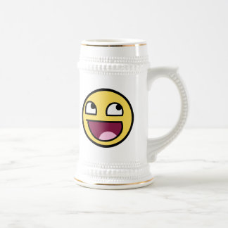 awesome smiley face awesome face beer stein