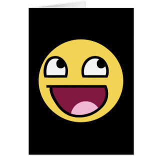 awesome smiley face awesome face greeting card