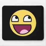 awesome smiley face awesome face mouse pads
