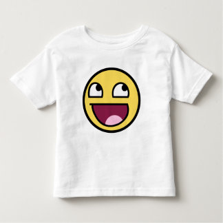 awesome smiley face awesome face toddler t-shirt