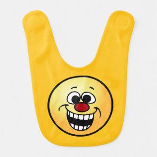Awesome Smiley Face Grumpey Bib